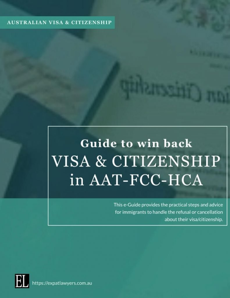 Visa/Citizenship appeal atAAT-FCC-HCA